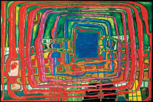 Hundertwasser, Painting
