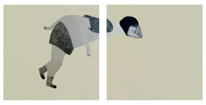 Guglielmo Castelli - Perché sto diventando spregevole agli occhi di chi mi contempla (Dittico 100x200)
