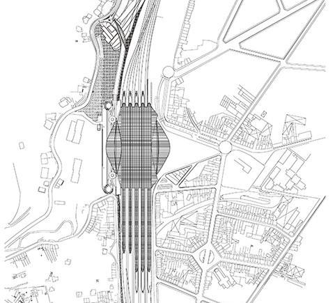 Gare de Liége-Guillemins - planimetria