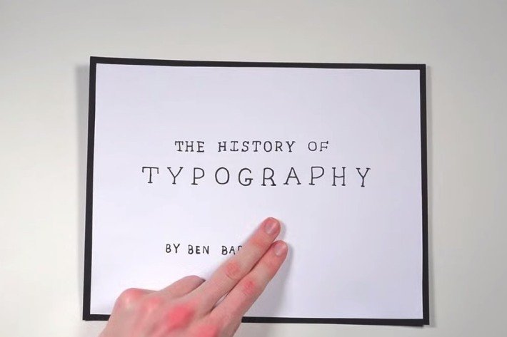 the history of typography