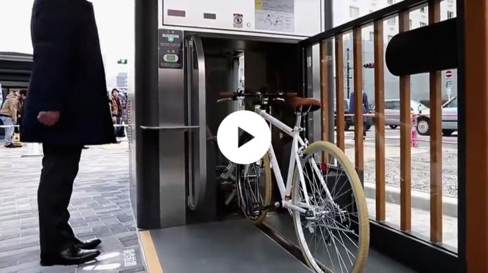 I parcheggi futiristici per le bici in Giappone