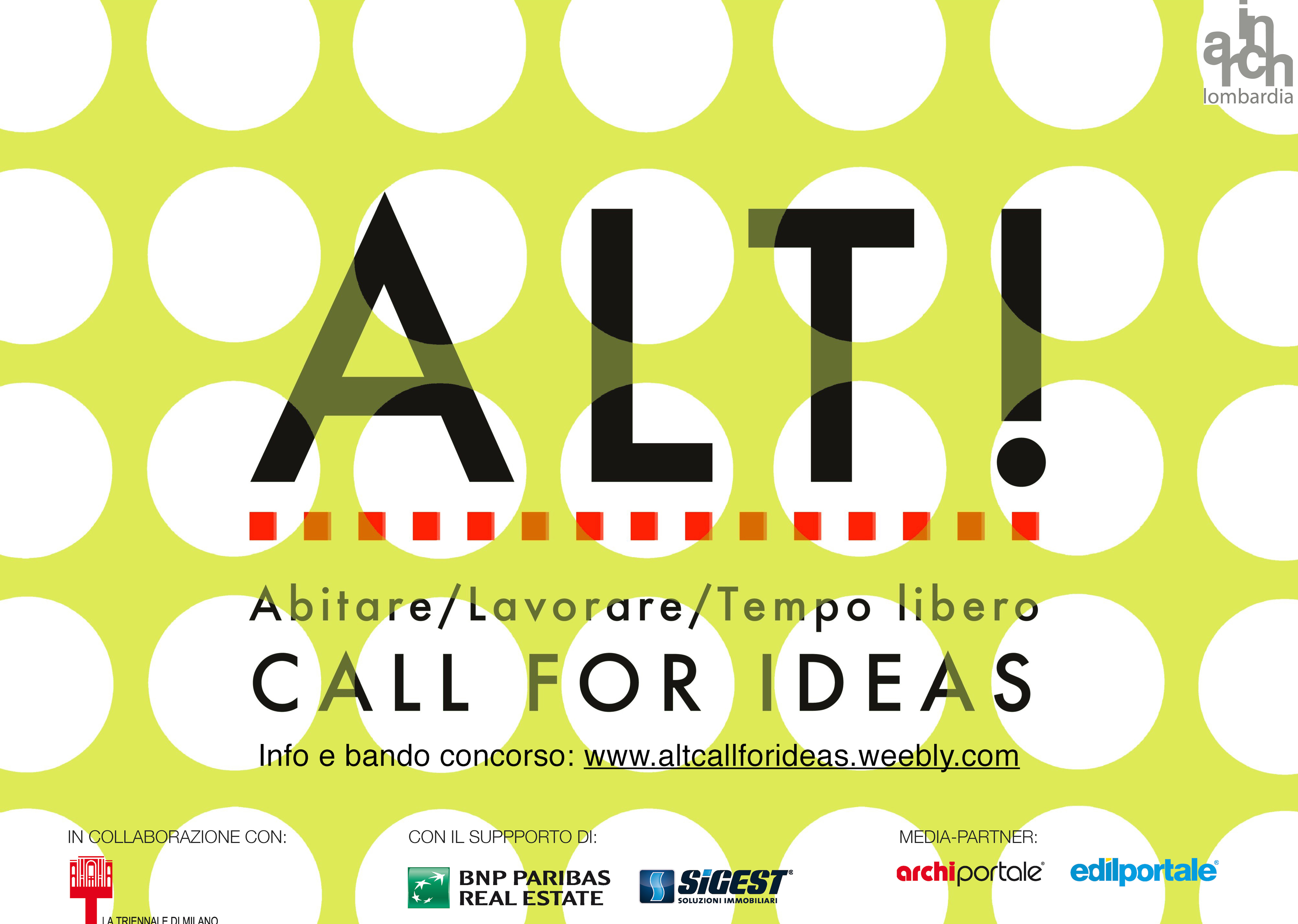 ALT! CALL FOR IDEAS