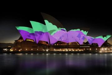 Trasformare la Sydney Opera House in un murale vivente