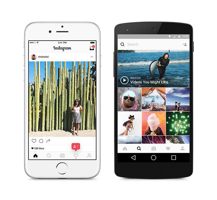 Nuova UI Instagram