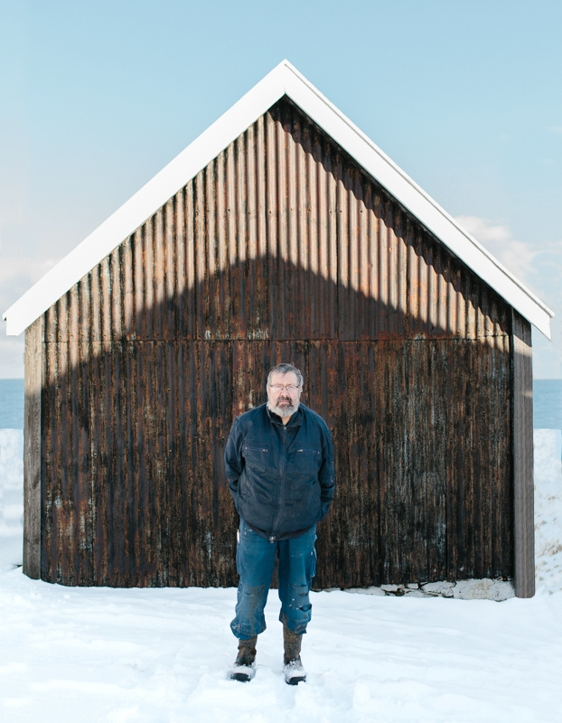 Farmer Eiler Einarsson in Elduvik, Faroe Islands. March 2016.