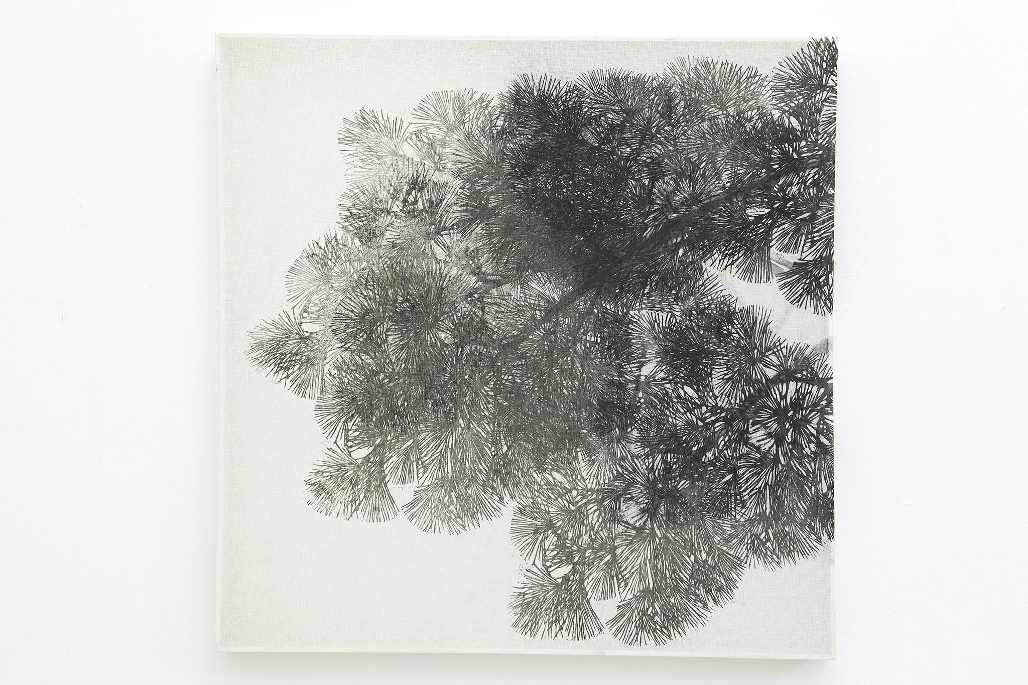 Asako Hishiki Bisbiglio 1_ 2013 xilografia su tessuto_100 x 100 cm_collezione privata