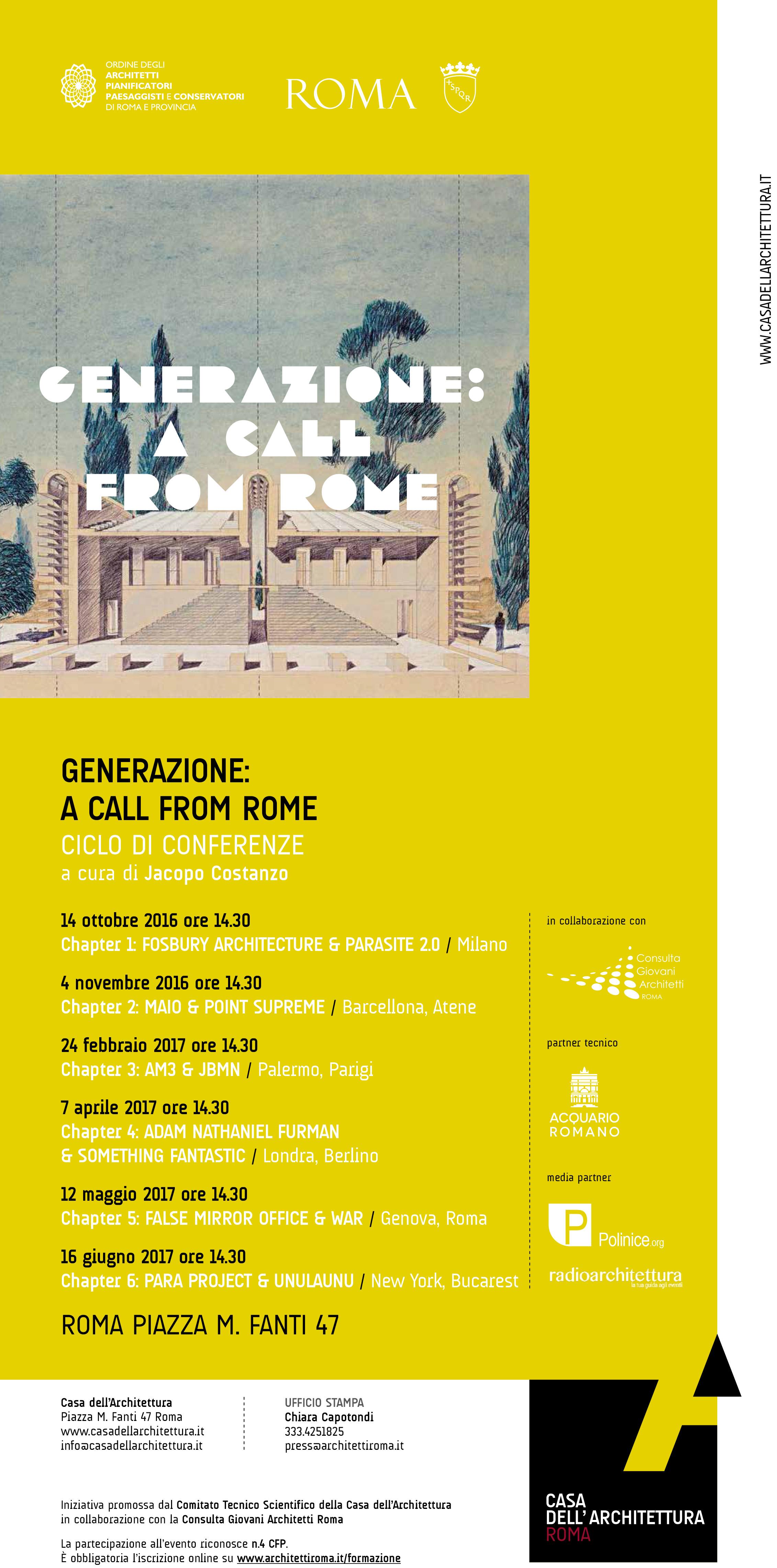 Generazione: A call from Rome