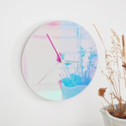 A to B - Color Wall Clock