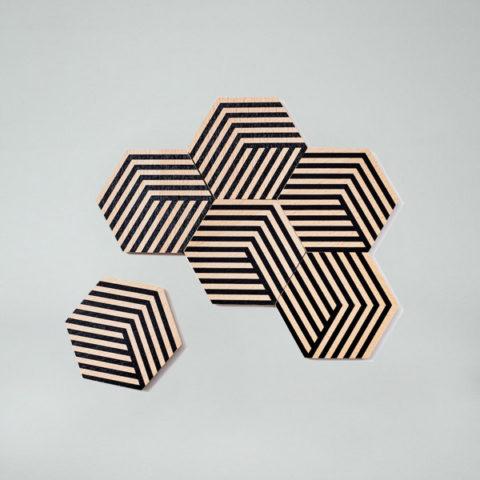 Black Optic Table Tiles