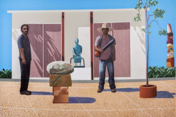 American Gardeners (After David Hockney's American Collectors, Fred and Marcia Weisman 1968)