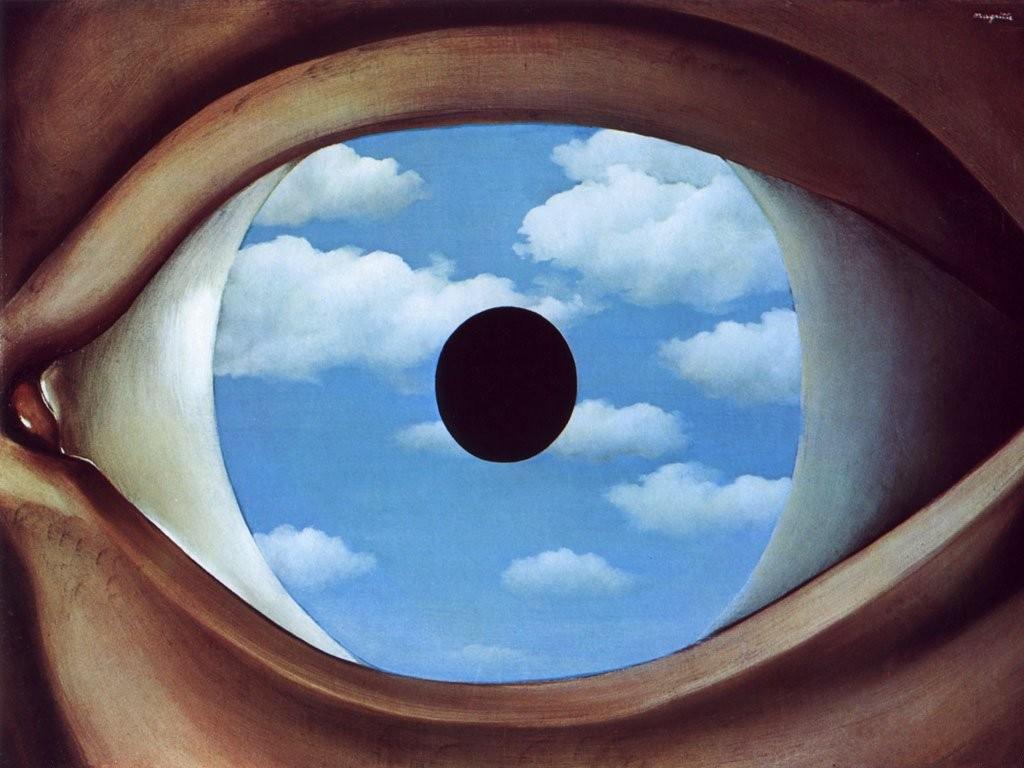 René Magritte – The False Mirror (1929)