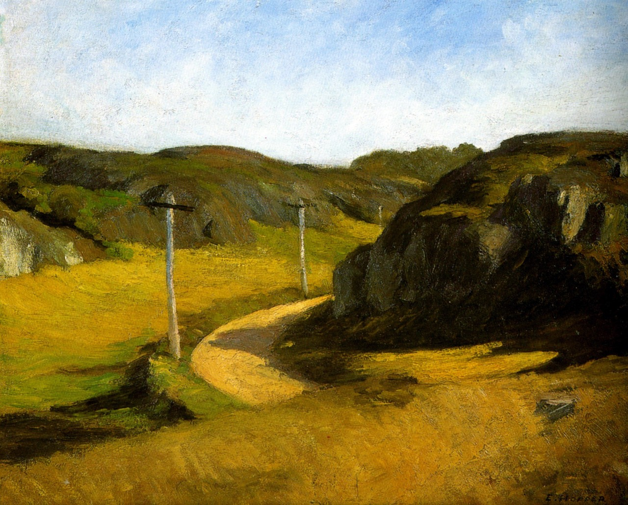 Road in Maine, 1914