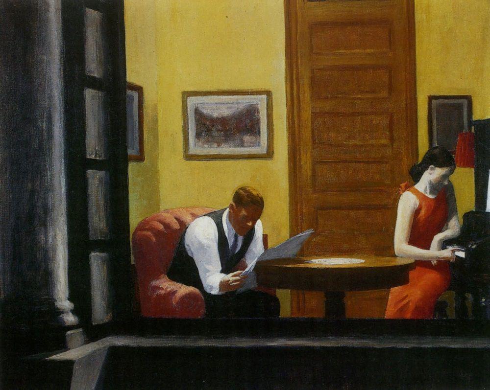 Room in New York – Edward Hopper, 1932