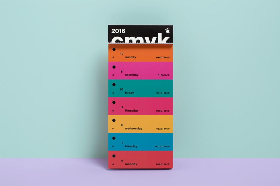 Color Swatch Calendar 2016